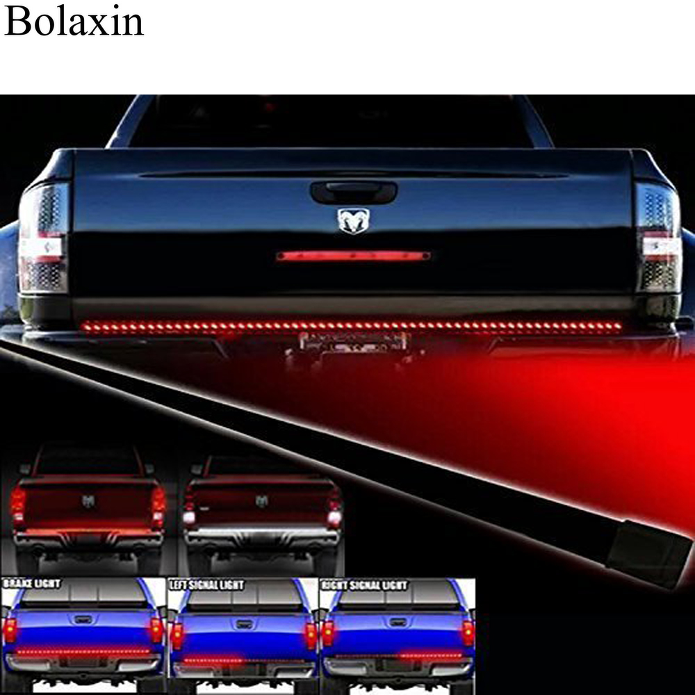Bolaxin waterproof 70 redwhite tailgate led strip light bar truck bolaxin waterproof 70 redwhite tailgate led strip light bar truck reverse brake turn signal tail for ford gmc chevy dodge ram in signal lamp from aloadofball Gallery