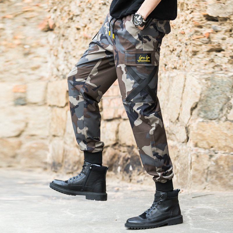 Large Size 5xl New 2019 Men Fashion Military Style Multi Pocket Pants Casual Pants Straight Long Cargo Pants Suit.