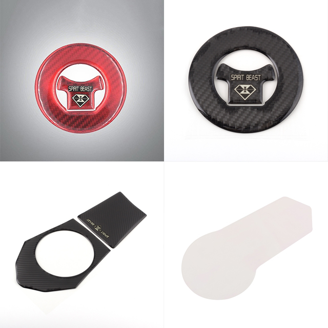 New 5D carbon fiber Fuel Tank Pad Protector Stickers for Benelli TNT125 Decals