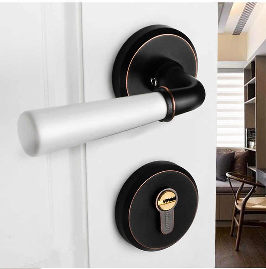 Modern fashion creative gold interior solid wooden door lock ceramic bedroom mechanical split mute door lock ORB ivory white modern simple fashion interior room door lock black split mechanical mute solid wood bedroom door lock creative bird handle lock