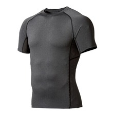 Горячая Распродажа Мужская компрессионная одежда Под базовым слоем Топы плотные спортивные футболки с коротким рукавом