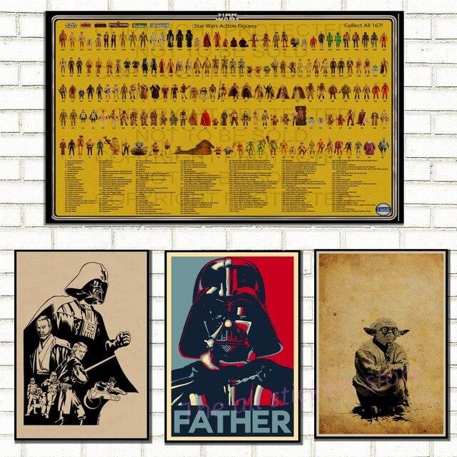 Винтажные Ретро Плакат Звездные войны крафт-бумаги бар домашнего декора Классический Кино настенные наклейки/5012