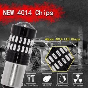 2 шт. S25 P21/5 Вт BAY15D Новый дизайн Светодиодные Автомобильные стоп-сигналы S25 два контакта лампы 4014 чипов белый Автомобильный источник света