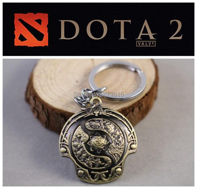 DOTA2 Toys Aegis of the Immortal Keychain Necklace DOTA 2 Roshan Shield