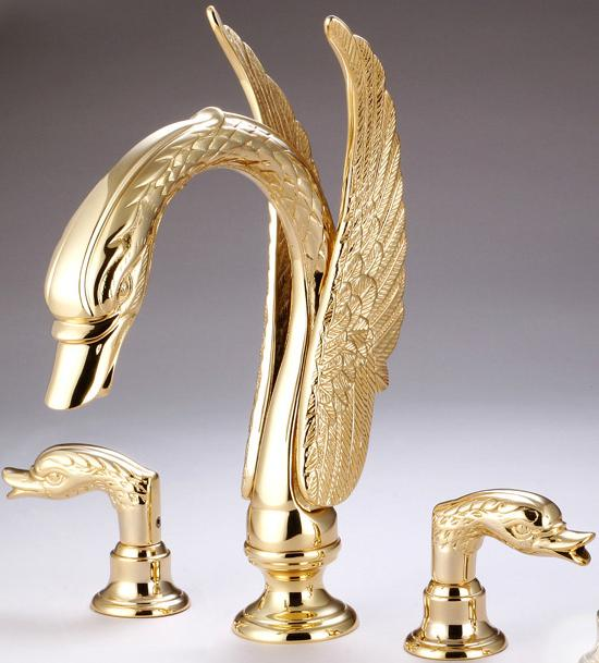 free shipping 3 piece roman tub or sink swan faucets bathroom faucets animal cute faucet