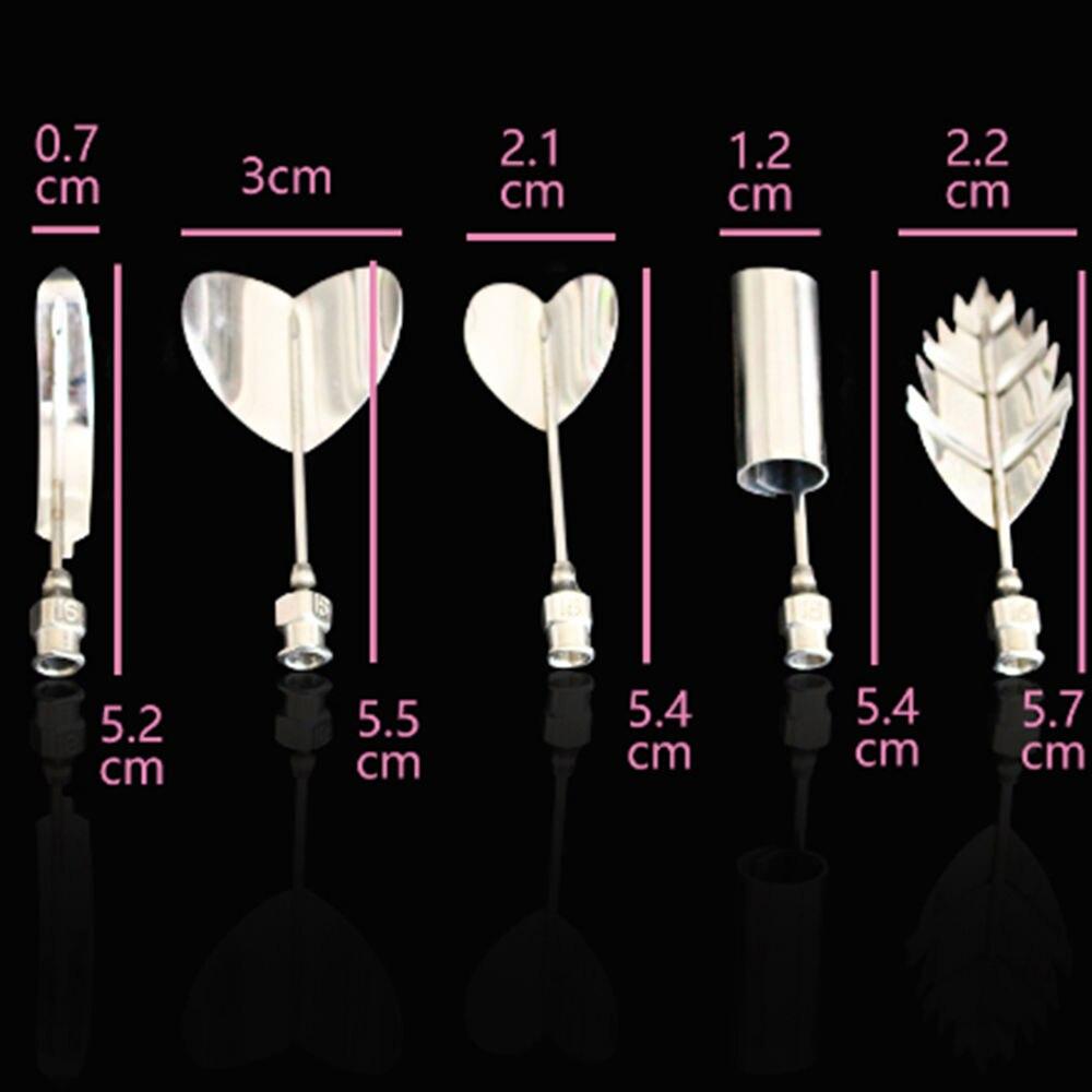 5PC/SET Flower 3D Jello Jelly Art Needle Tools Jelly Cake Gelatin Pudding Nozzle