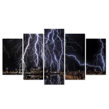 Top Selling Canvas Painting Wall Art Picture For Living Room Art Poster Decoration Thunder Picture With Frame Print Wall Abooly