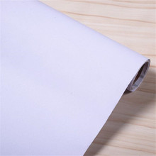 Self-adhesive wallpaper PVC waterproof wallpaper wall stickers pure white wall bedroom sticky furniture renovation stickers(China)