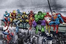 Fai da te Diamante Pittura A punto croce quadrata 5d diamante Ricamo Deadpool Hulk Batman Justice League Supereroe Anime pittura Murale(China)