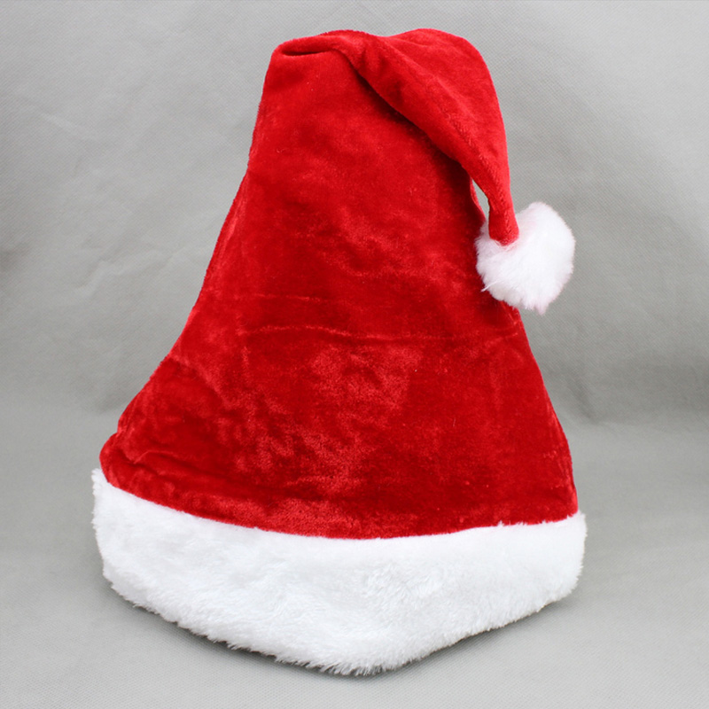 2017 Winter adult child cute santa claus hat christmas xmas holiday topper decor cap costume chritmas party decoration inflatable cartoon customized advertising giant christmas inflatable santa claus for christmas outdoor decoration