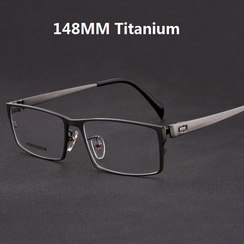 Cubojue Titanium Glasses Men Oversized Eyeglasses Frame Man Wide Face Prescription Spectacles Full Rim Eyewear For Optic