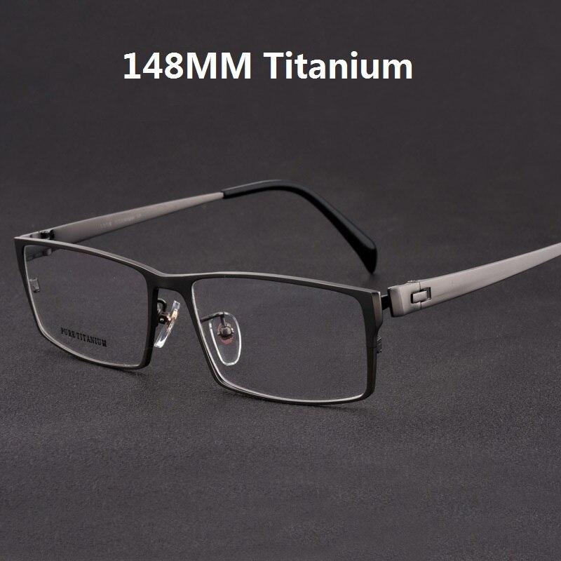 Cubojue titane lunettes hommes surdimensionné lunettes cadre homme large visage Prescription lunettes pleine jante lunettes pour optique