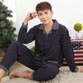 Pyjamas Men Print Pyjama Homme Casual Plus Size Cotton Sleepwear Mens Lounge Wear Loungewear Winter Sleep Sets