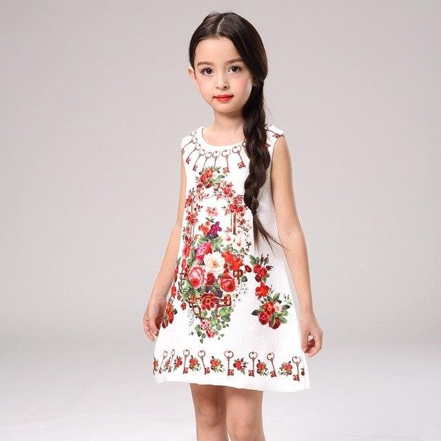 3e98fb27c Verano niñas vestido 2017 nueva Rosa flor chica vestido Princesa Sofia  vestido niños vestidos de fiesta