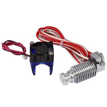 Extrusora V6 j-head Hotend 0,4mm ventilador PTFE tubo remoto Bowden partes 1,75mm 3mm filamento 3D Piezas de impresora termistores cortos 12V40W
