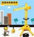 2016 nuevo wired control de grúa de construcción toys simulación grúa ingeniería niños regalos educativos toys
