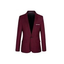 Для мужчин мода Slim Fit формальный одна кнопка костюм Блейзер мужчин, пальто, куртки и пиджаки Топ черный костюм Для мужчин