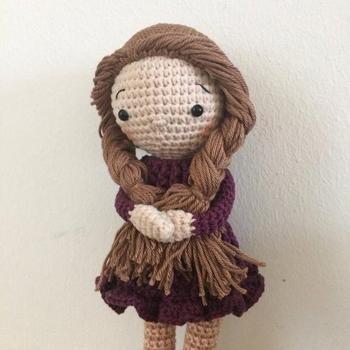 crochet armigurumi rattle  pretty girl   model number  859