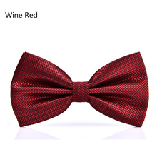 15 Color Solid Fashion Bowties Groom Men Colourful Plaid Cravat Gravata Male Marriage Butterfly Wedding Bow Ties
