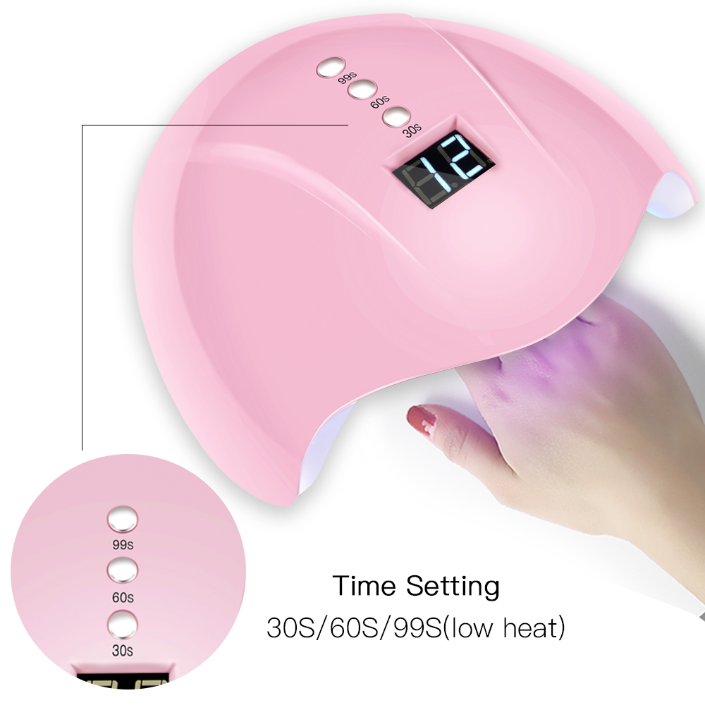 1 Pcs/Box 3 Timer 30s/60s/99s UV <font><b>Led</b></font> <font><b>Lamp</b></font> Nail Dryer 12 <font><b>Leds</b></font> UV <font><b>Lamp</b></font> <font><b>36W</b></font> for Nail Machine Curing Dryer For All Types Nail Gel LD image
