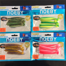 Noeby 24 pieces 9cm 4 3g silicone bait soft lures T tail swimbaits soft fishing baits