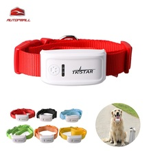 Mini TK909 Dog Cat Pet GPS Tracker Waterproof 400 Hours Standby Six Colors Dog Finder IOS / Android APP Free Website Tracking