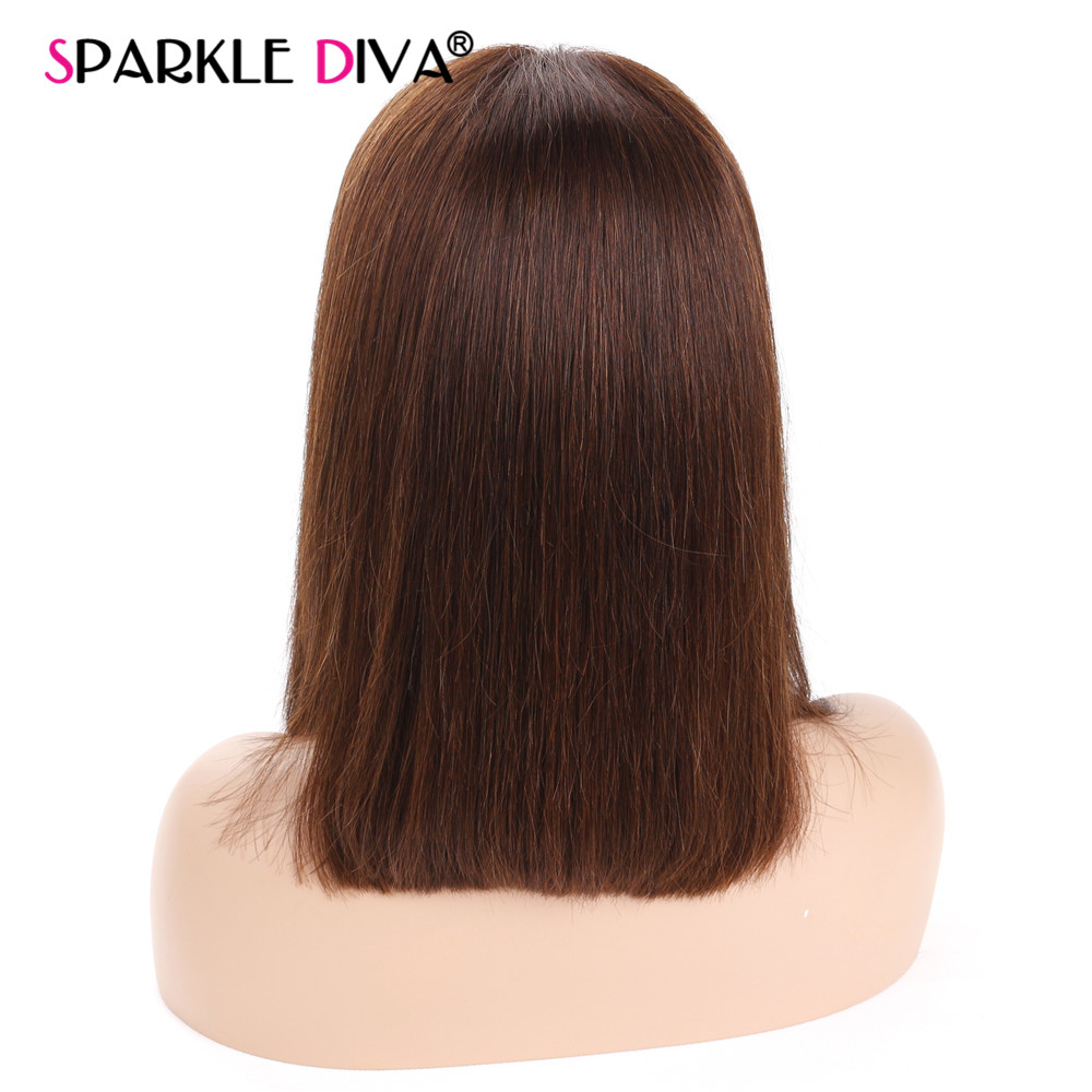150% Density Short Bob Lace Front Human Hair Wig With Baby Hair Brazilian Remy Glueless Lace Front Wig Pre Plucked #1#4