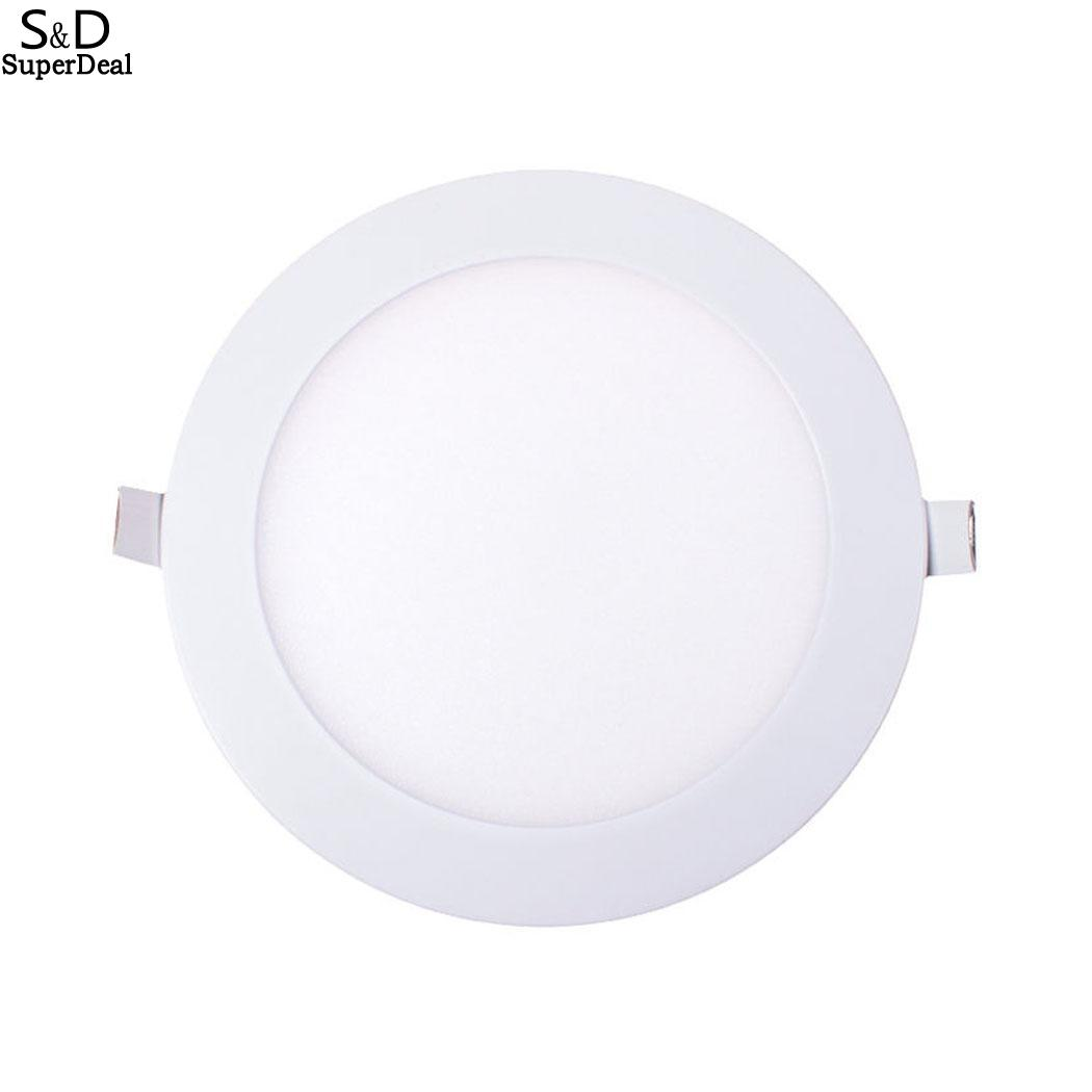 Dimmable Ultra Thin Round Recessed Led Ceiling Lights For Home Commercial
