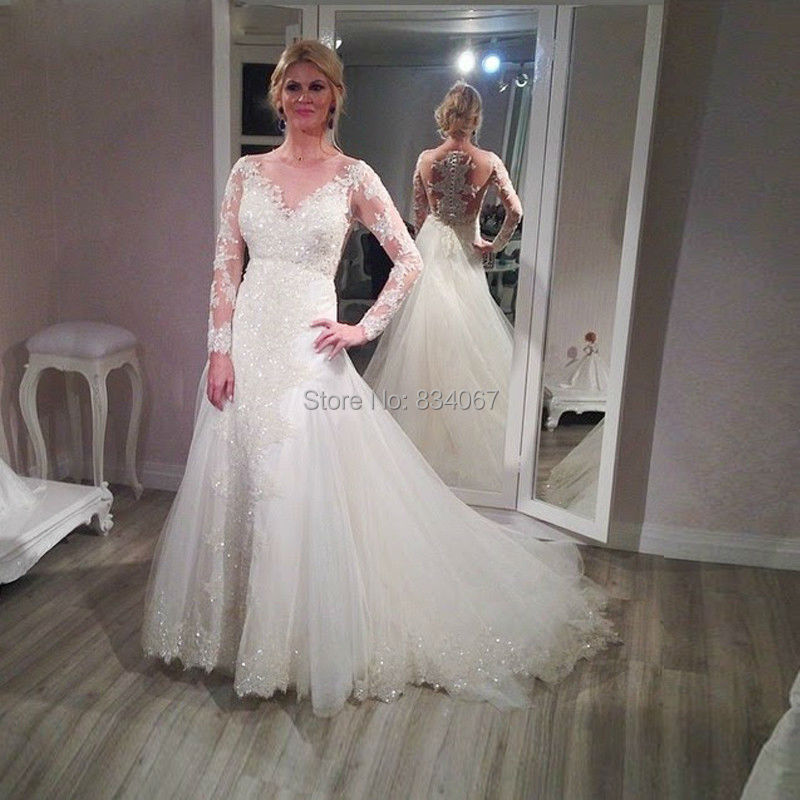 Online get cheap sparkly wedding dress for Sparkly wedding dresses with sleeves
