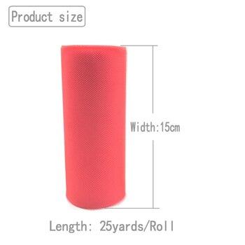 25 yards 15cm Tulle Roll Fabric Spool Tutu Wedding Decoration Baby Shower Organza Laser DIY Crafts Birthday Party Supplies 1