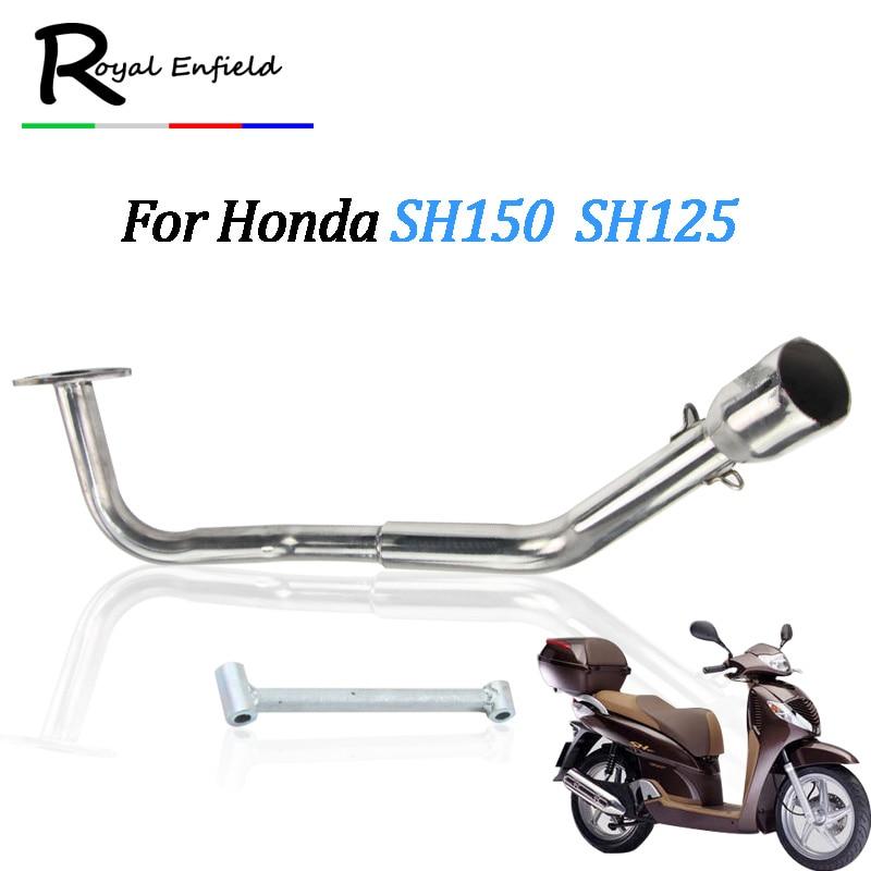 SH150 SH 125 150I Motorcycle Exhaust Full System Slip-On Middle Link Pipe Muffler For honda SH125 SH150i SH125i все цены