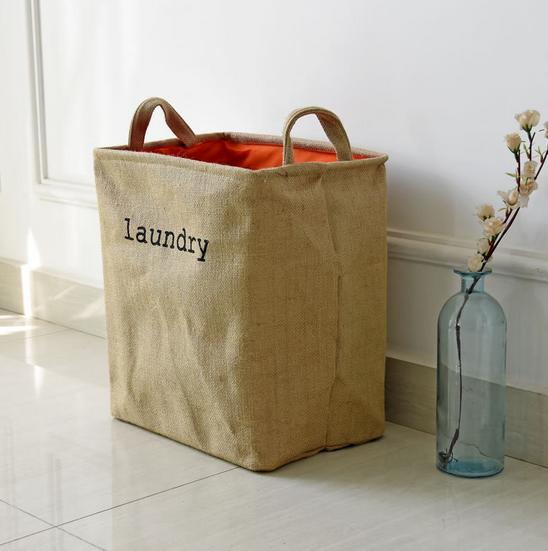 Dirty Clothes Laundry Basket Pouch Linen Washing Hamper Home Bag Housekeeping Use Bags Folding Toy Storage 0672