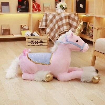 100 cm Jumbo licorne en Peluche jouets géants en Peluche animaux cheval jouets doux Unicornio Peluche poupées cadeaux enfants Photo accessoires