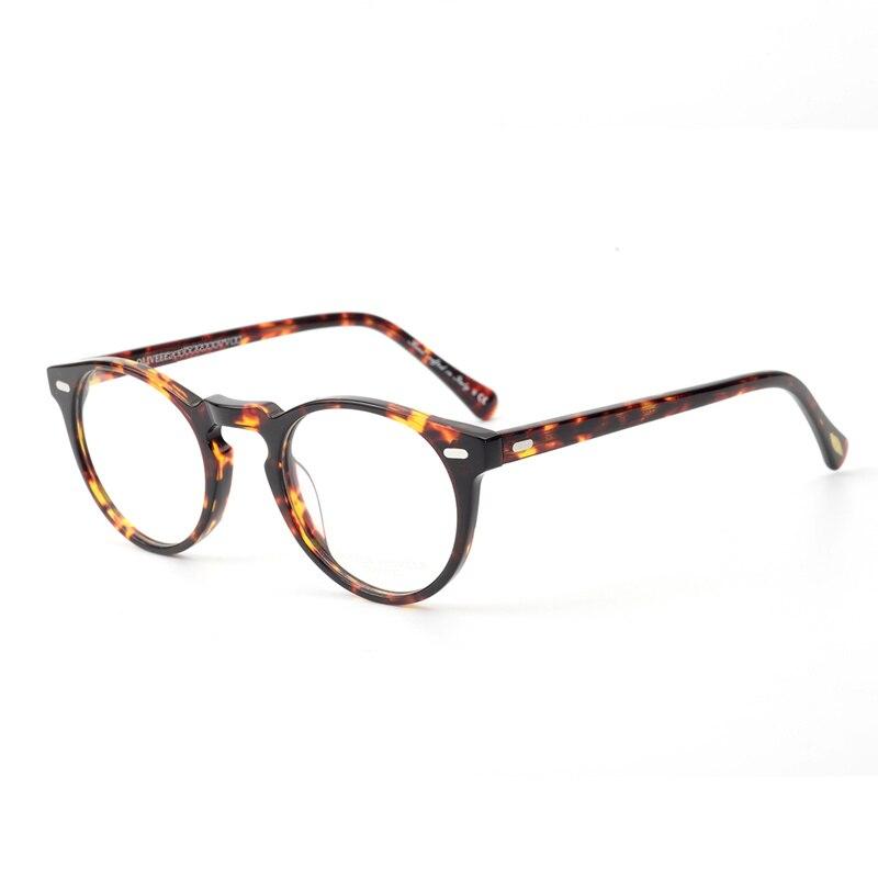 Óculos Vintage Mulheres OV5186 Claras Óculos de Armação Homens Óculos  Redondos Frame Ótico para a Lente c0931d90de