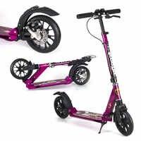 New Arrival dysku hamulca fioletowy hulajnoga dla dorosłych z 20*4 cm duży koło poliuretanowe, dual Shock absorpcji nastolatków skuter może 150 KG