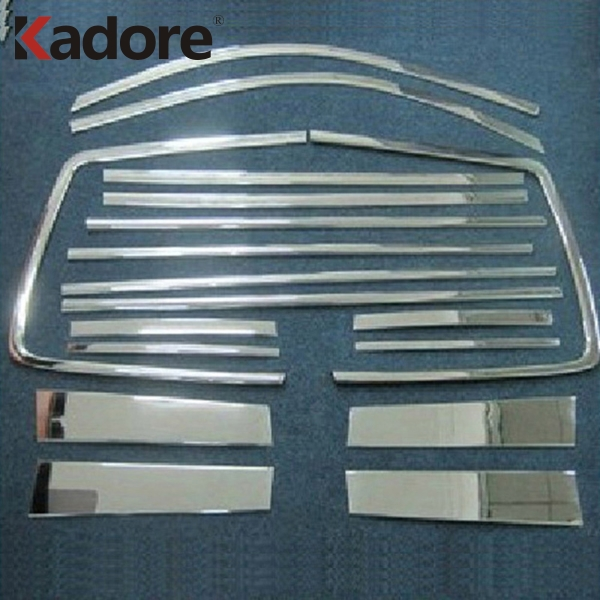 Fit For Toyota Highlander 2008 2009 2010 2011 Stainless Steel Car Window Trim Frame Moulding Cover Sticker Exterior Accessories for highlander trim a