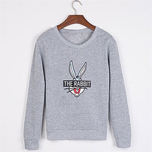 New Autumn Winter Women Fashion Cute Cartoon Bugs Bunny Printed Sweatshirts Loose Casual Female Hoody Coat Hoodies AQ982881