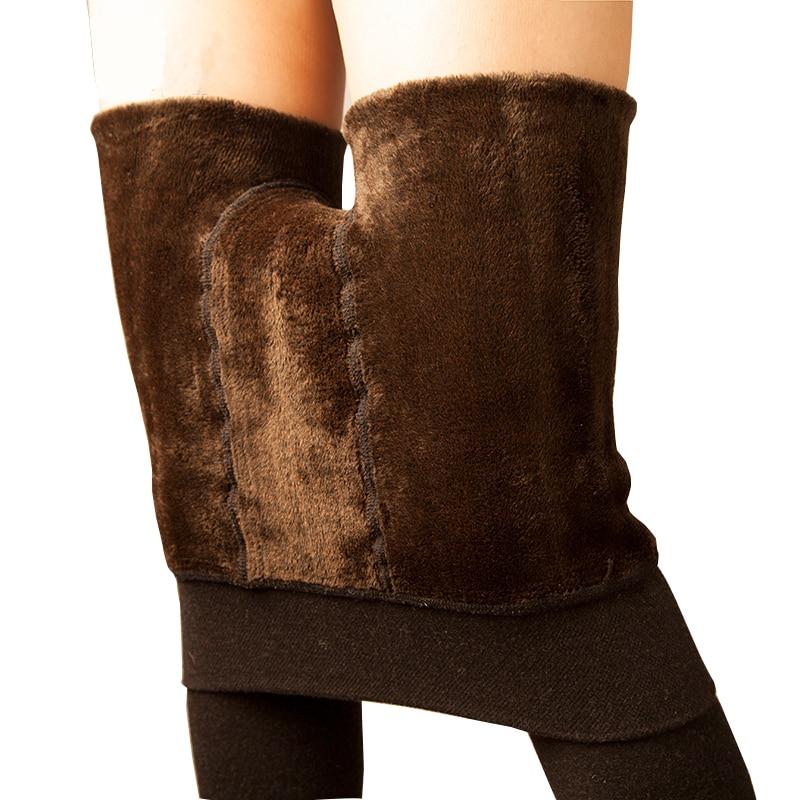 Women's Winter Plus Cashmere Leggings Fashion Big Size Warm Super Elastic Faux Velvet Winter Thick Slim Leggings 8