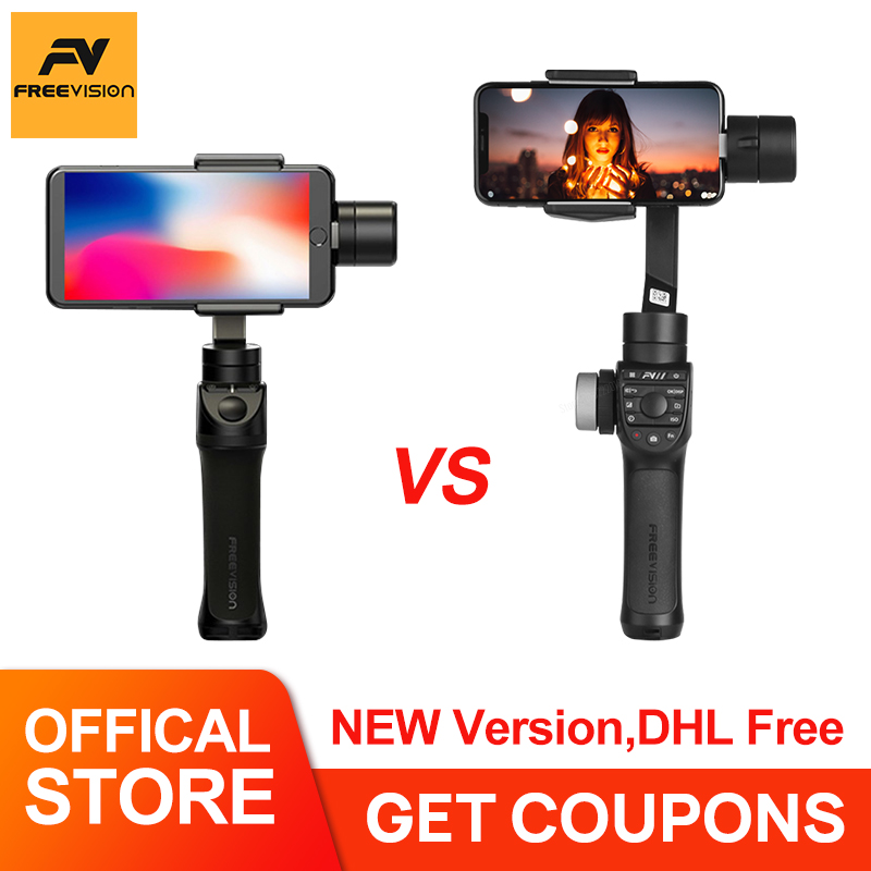 Freevision Vilta m Pro 3 axis Handheld Gimbal Smartphone Stabilizer for iPhone Samsung GoPro 7 6