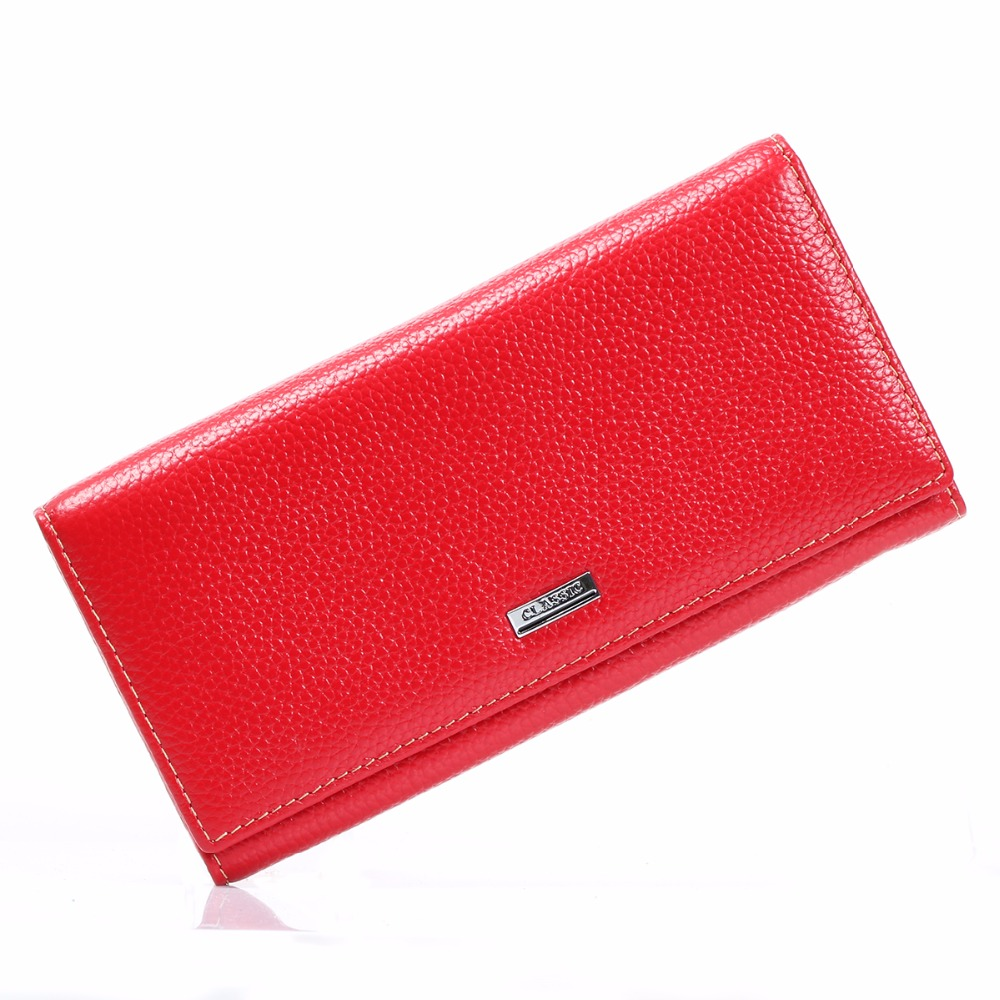 5 Colors Long Wallet Women Real Cowhide Genuine Leather Wallets and Purse Clutch Handbag Coin Credit Cards Holder Carteras Mujer