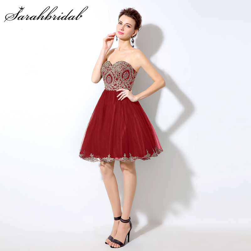 New Arrival In Stock Short   Cocktail     Dresses   Crystal Lace A-line Homecoming   Dress   Rode De Soiree Real Photo Vestido LSX028