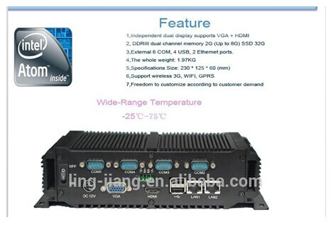 2015 Hot Sale Embedded Mini Pc  Operating System With Dual Core Cpu Intel Atom Processor