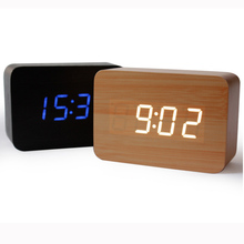 New design Antique office Electronic digital Temperature Sounds Control LED display alarm clock Classic vintage desktop