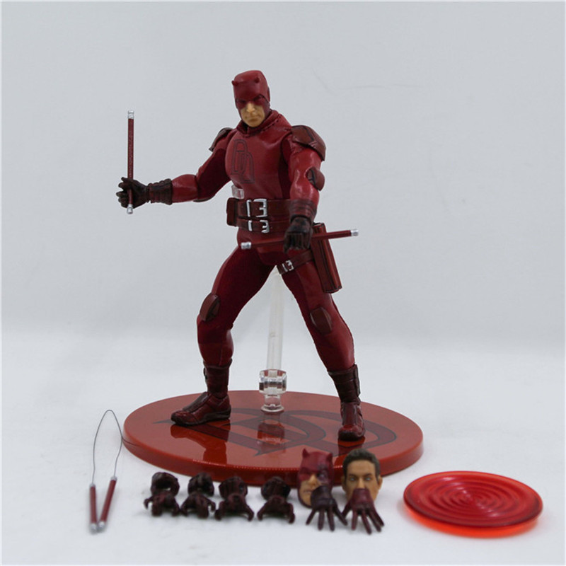 WVW 15CM Hot Sale The Avengers Movie Hero Daredevil Play Arts Model PVC Toy Action Figure Decoration For Collection Gift hot sale removable armor deformable big hero 6 2015 new deformable robot baymax children s action toy figures holiday gift