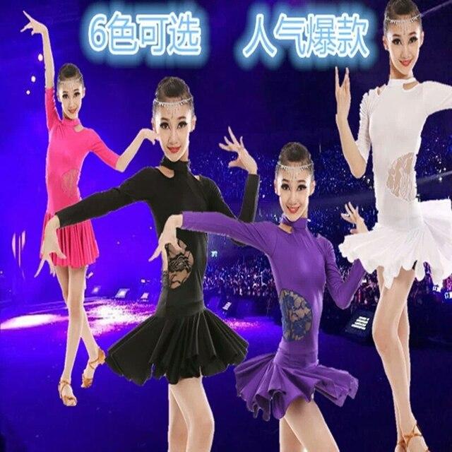 2017 Костюмы для латиноамериканских танцев Обувь для девочек платье для танцев для Обувь для девочек танцевальная одежда Samba Костюмы для бальных танцев Танцы Балетные костюмы Производительность Платья для женщин Детский костюм Vestido вальс