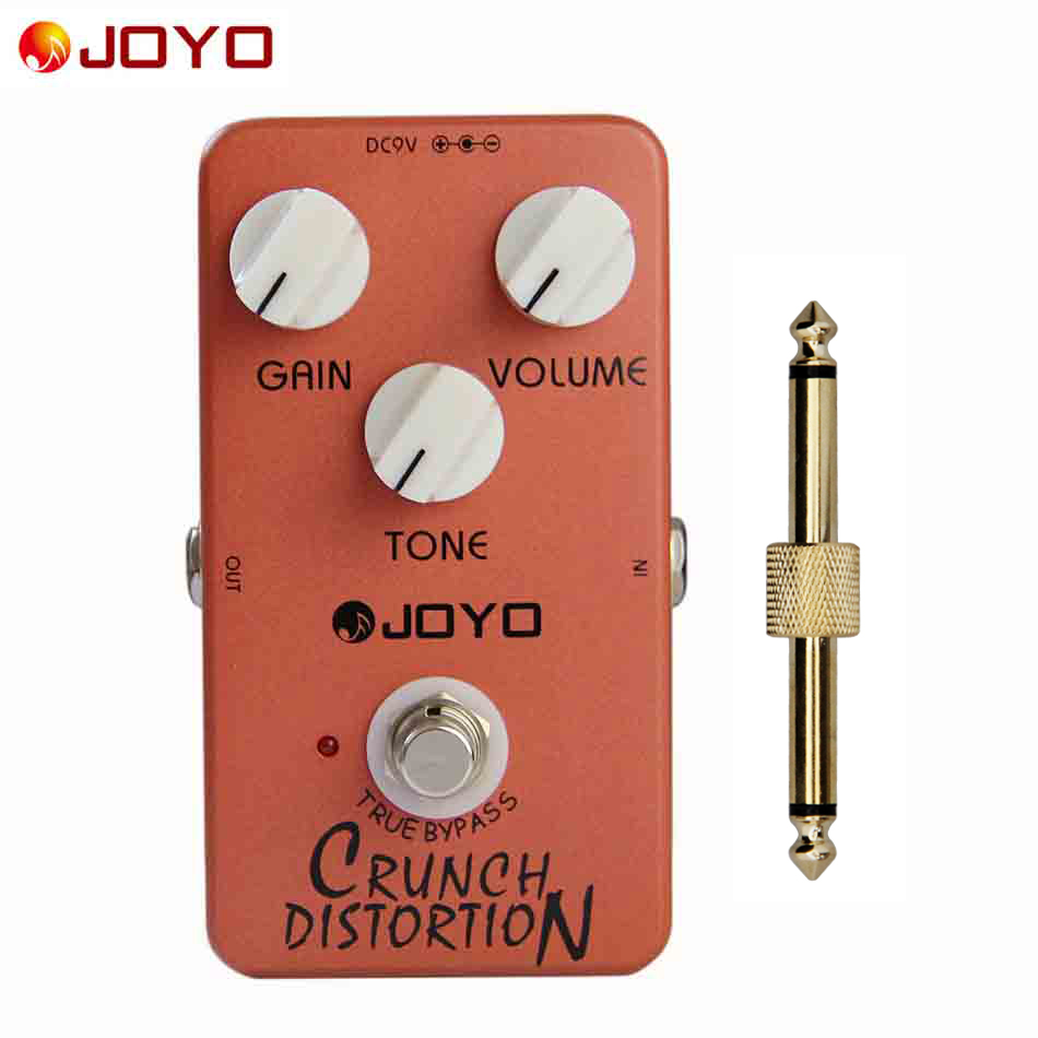 JOYO True Bypass Pedal JF-03 Crunch Distortion (British Classic Rock Distortion) Guitar Pedal with Effects Connector 1pc joyo jf 34 high gain distortion us dream guitar effects with 3 knobs