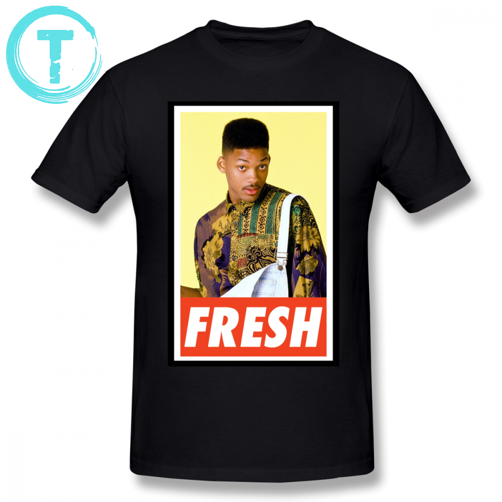 Fresh Prince T Shirt FRESH  T-Shirt Cotton Plus Size Tee Shirt Funny Men Short Sleeve Printed Casual Tshirt