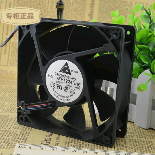 Entrega gratuita. 12 cm AFB1224HHE 12038 24 v 0.45 Um servidor para Um ventilador de refrigeração