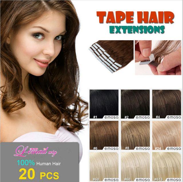 Cheap Dark Ash Blonde Tape India Human 16 Inch 25gpiece Straight