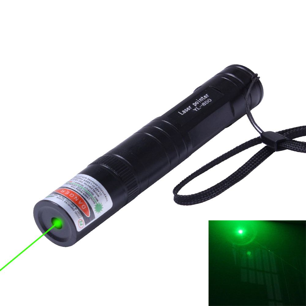 5mW Green Laser Sight High Power 532nm Laser pointer Powerful device Adjustable Focus Lazer Pointer